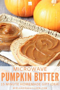 This silky, spicy pumpkin butter tastes like pumpkin pie and is ready in 15 minutes. It is a wonderful fall treat on muffins, toast, and pancakes! The recipe makes 8 cups total so you will have plenty to share as hostess and homemade Christmas gifts (if you can part with it). #pumpkinspice #fallfood #homemadegift #easy Fall Recipes, Healthy Dinner Recipes, Holiday Recipes, Breakfast Recipes, Snack Recipes, Dessert Recipes, Pumpkin Recipes, Christmas Recipes, Brunch Recipes