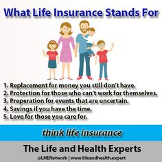 Think Life Insurance. Educate and Protect Your Family Today.  #Life #Insurance #lifeinsurance #planning #retirement #insureyourlove #facts #LHENetwork