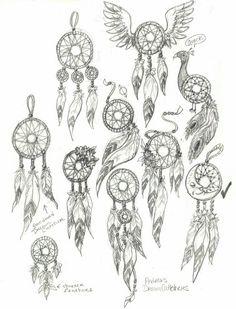 Resultado de imagem para how to draw dream catchers step by step Tattoo Sketches, Tattoo Drawings, Body Art Tattoos, I Tattoo, Art Drawings, Tatoos, Dream Catcher Drawing, Dream Catcher Tattoo Design, Dream Catchers