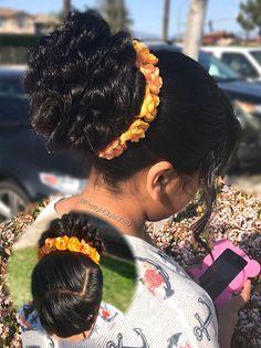 By @PrettyHStyle3029 #updo #hairstyle #messyupdo #peinado #partyhair #hair #hairaccessorie