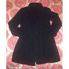 Black pea coat Gently worn. Some pilling, but in good condition otherwise. Missing two buttons. NO TRADES. Forever 21 Jackets & Coats Pea Coats