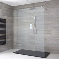 How to Choose a Milano Walk In Shower and Wet Room - - Walk in showers and wet rooms come in many sizes, shapes and styles to suit any requirement. Our handy guide and video shows you how to choose the perfect one for your bathroom. Wet Room Bathroom, Wet Room Shower, Bathroom Shop, Big Bathrooms, Small Bathroom, Modern Shower, Modern Bathroom, Wet Room Screens, Walk Through Shower