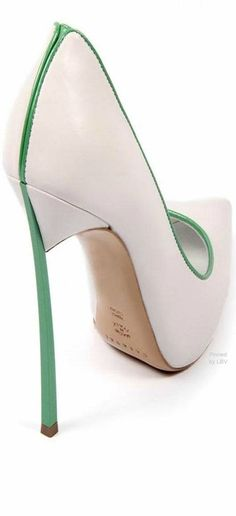 pinterest.com/fra411 #shoes - Casadei Leather Pointed Toe Heels | LBV ♥✤ modern woman's shoes