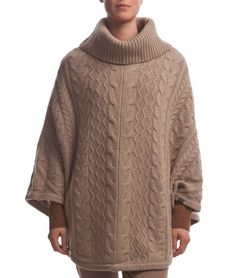 Danielle Poncho in heavy cable knit is a perfect garment for an elegant look this fall. You'll find more knitted sweaters for women at Lexington Company.