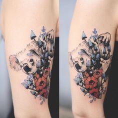 Koala bear ;) ✨ #tattoo #tatuaz #tattoowork #project #design #ink #inked…