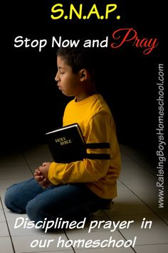 A post about how we've incorporated disciplined prayer in our homeschool through our Stop Now And Pray model.
