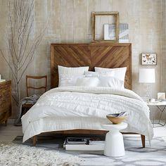 Alexa Reclaimed Wood Bed | West Elm