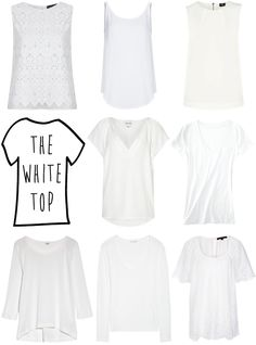 Perfect white tops....I dont care what time of year it is a white shirt is always perfect for me!!