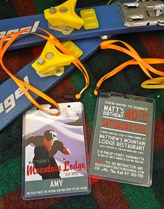 Giggleberry Creations!: Skiing themed 40th birthday party - Invitations!