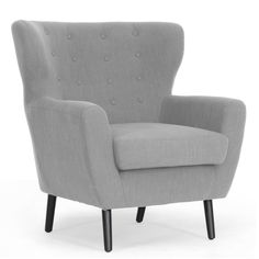 Moretti Light Grey Linen Modern Club Chair - Overstock™ Shopping - Great Deals on Baxton Studio Living Room Chairs