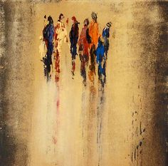 abstract art paintings people   ... Luyeh Art People: Group People: Families Modern Age Abstract Art