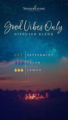 Young Living 491877590555408085 - Try this dreamy Good Vibes Only diffuser blend: Get lost in the sweet scents of this essential oil mix by combining Peppermint, Valor, and Lemon essential oils. Source by youngliving