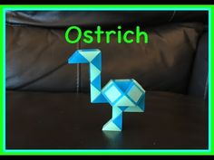 ▶ Smiggle Snake Puzzle or Rubik's Twist Tutorial: How To Make An Ostrich... Step by Step Video - YouTube