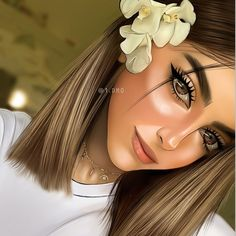Shared by princess Rose. Find images and videos on We Heart It - the app to get lost in what you love. Beautiful Girl Drawing, Cute Girl Drawing, Cartoon Girl Drawing, Girly M, Cartoon Girl Images, Cute Cartoon Girl, Digital Art Girl, Digital Portrait, Sarra Art
