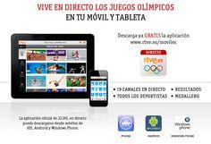 Vive en directo los Juegos Olímpicos en tu móvil y tableta