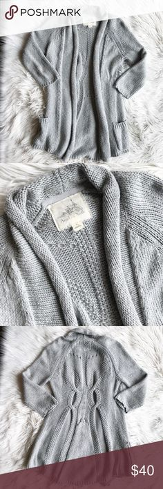 Anthro Angel of the North Open Front Cardigan Anthropologie Angel of the North Open Front Cardigan. Lightly worn but in good condition. Open front with rolled edges, 3/4 sleeve style. 100% cotton. No trades, offers welcome. Anthropologie Sweaters Cardigans