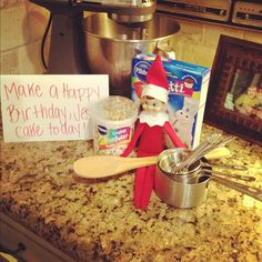 Fantastic Photographs Elf On The Shelf That Points Back To Jesus Love This Idea ., Fantastic Photographs Elf On The Shelf That Points Back To Jesus Love This Idea ., on the shelf ideas easy Birthday Elf, Happy Birthday Jesus, December Birthday, Cake Birthday, Birthday Parties, Christmas Activities, Christmas Traditions, Der Elf, North Pole Breakfast