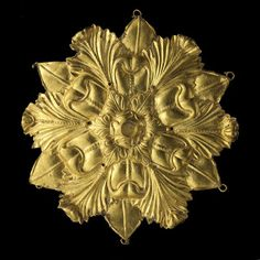 Hair decoration from Afghanistan, Tillia tepe, tomb III, 1st century. Gold