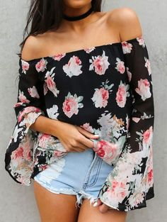 Anna Bay Floral Top
