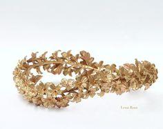 Bridal pearls headpiece. Bridal rhinestone by LenaRomHeadpieces