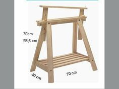 Adjustable sawhorse. REF.1342