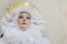 Nuestra Señora de la Soledad, magnifica obra tallada a mano de tamaño natural, ex profeso para indumentaria. Parroquia de Mineral de la Virgen de la Luz en Mineral de la Luz, Guanajuato.