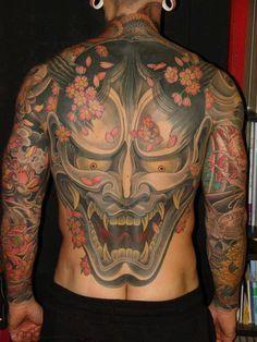 Arm Japanese Back Demon Tattoo by Ethno Tattoo Oni Tattoo, Irezumi Tattoos, Samurai Tattoo, Japanese Demon Tattoo, Japanese Flower Tattoo, Japanese Tattoo Designs, Ethno Tattoo, Japanese Tiger Art, Body Art Tattoos