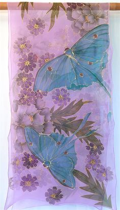 Hand Painted Silk Shawl Etsy asap Silk by SilkScarvesTakuyo Thread Painting, Fabric Painting, Painting Art, Paintings, The Purple, Painted Silk, Hand Painted, Silk Art, Silk Shawl