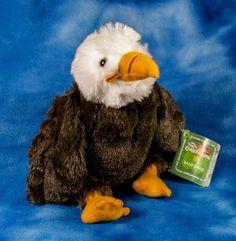 "plush Wild Republic Cuddlekins BALD EAGLE nwt 8"""