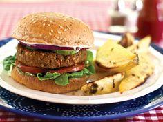 Dreena Burton's Gluten Free Vegan Nutty Veggie Burgers - Looking for fabulous gluten free veggie burger recipes? This nutty vegan vegetarian recipe from Dreena Burton ROCKS!