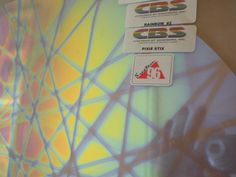 "Dichroic Glass:CBS 96 COE Pixie Stix Pattern on Flat Smooth Clear - 3""Sq #CBS"