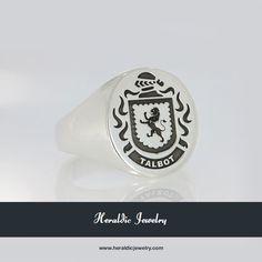 Talbot family crest jewelry