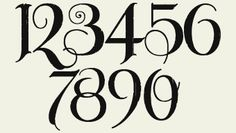 font for table numbers?