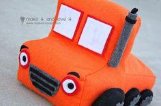felt toy truck