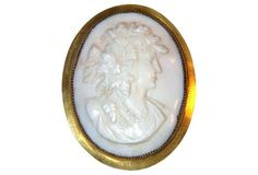 Victorian Gold-Plated Cameo from Little Treasures on One Kings Lane.