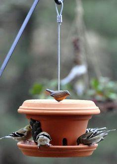 MENTŐÖTLET - kreáció, újrahasznosítás: Cserépből madáretető