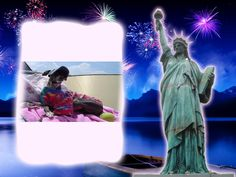 This photo was created by  using Liberty Statue effect on PhotoMania