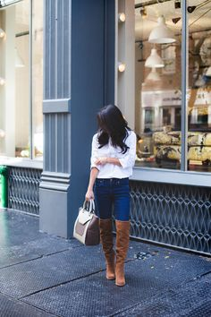 simple white button down