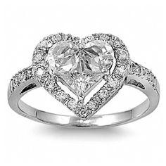 sandras designer inspired heart shape engagement ring 47 liked on polyvore - Heart Wedding Ring