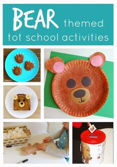 Toddler Approved! Bear Themed Activities Crafts and Snacks for Tot School.