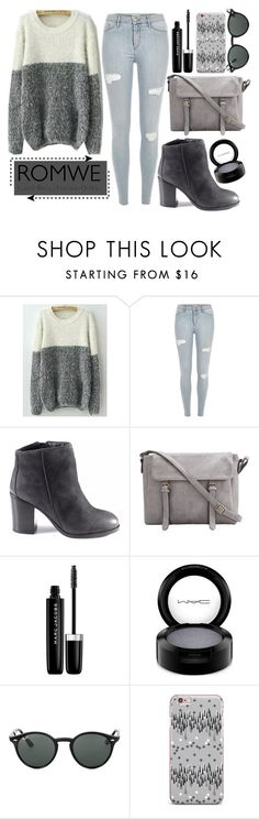 """gray"" by alinka-titova ❤ liked on Polyvore featuring Marc Jacobs, MAC Cosmetics and Ray-Ban"