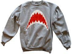Green Hill Phantom Shark Teeth crewneck sweater (Steel Fighter)