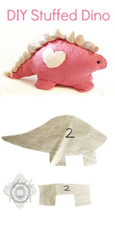 DIY Plush Dinosaur - Purse or pencil case even? .... My niece Jillian sure loves Dino's! She'd love this.