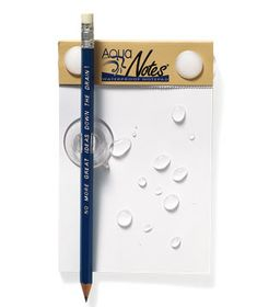 AquaNotes Waterproof Note Pad—Perfect for those of you who get your best ideas in the shower.