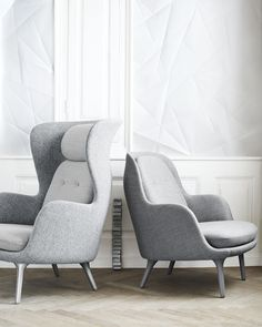 Fritz Hansen - NEW CHAIR! Fri™ - the chair is all about the life that is going on around you. Fri™ is designed by Jaime Hayon. #grey #soft #modern #design