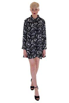 Glamorous Abstract Shirt Dress | Dresses | DIZEN