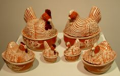 Mexican Pottery Chickens