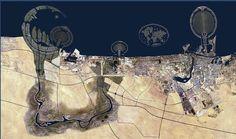 Bird's eye view: Dubai, United Arab Emirates