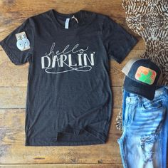 You can call me Darlin anytime you want. - Vinyl Shirt - Ideas of Vinyl Shirt - You can call me Darlin anytime you want. Western Chic, Western Wear, Western Apparel, Cute Country Outfits, Country Girls, Cute Outfits, Country Girl Shirts, Country Girl Style, Fashion Clothes