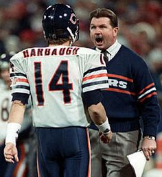Jim Harbaugh & Mike Ditka - Chicago Bears